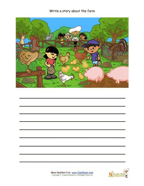 Picture Composition Worksheets For Kindergarten
