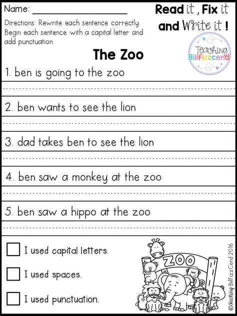 Best 25+ Simple Sentences Worksheet