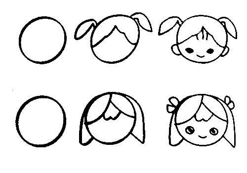 Teach Kids Draw People Page,free Printable Kids Step By Step