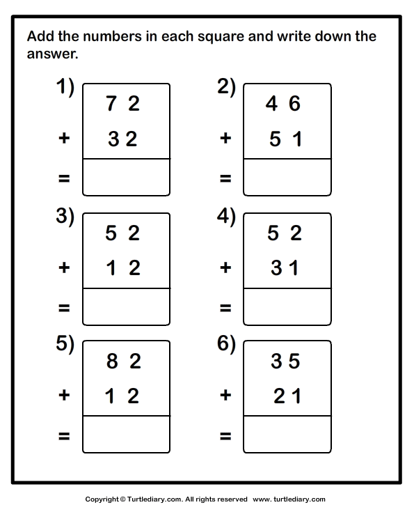 Adding Two Digit Numbers With Regrouping Worksheets Worksheets For