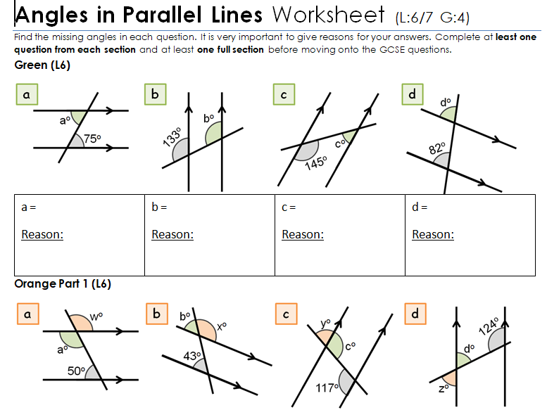 Ks3 Ks4 Maths  Angles In Parallel Lines By Mathsbyfintan