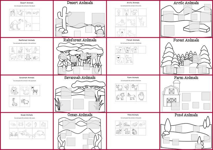 Free Printable Worksheets Animal Habitats