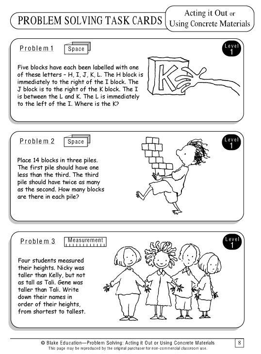 Math Problem Solving Strategies Worksheets