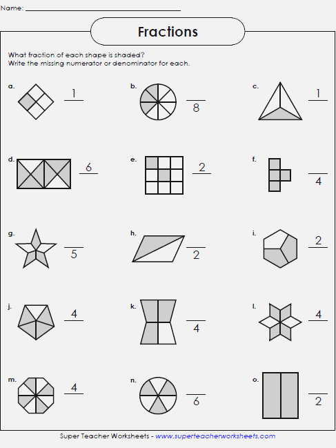 Fraction Worksheets For Grade 1 – Dailypoll Co