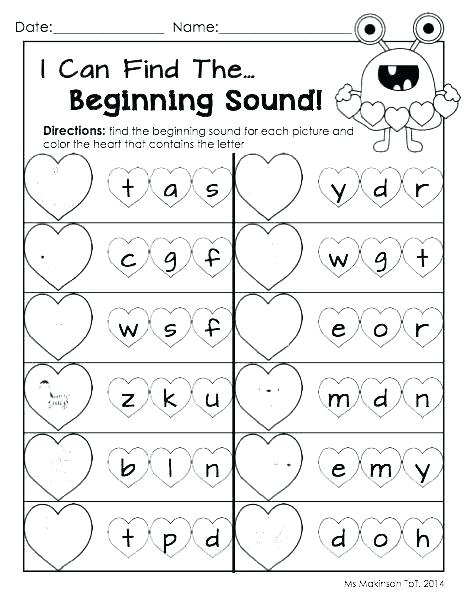 Beginning Consonant Sounds Worksheets Beginning Sound Worksheets