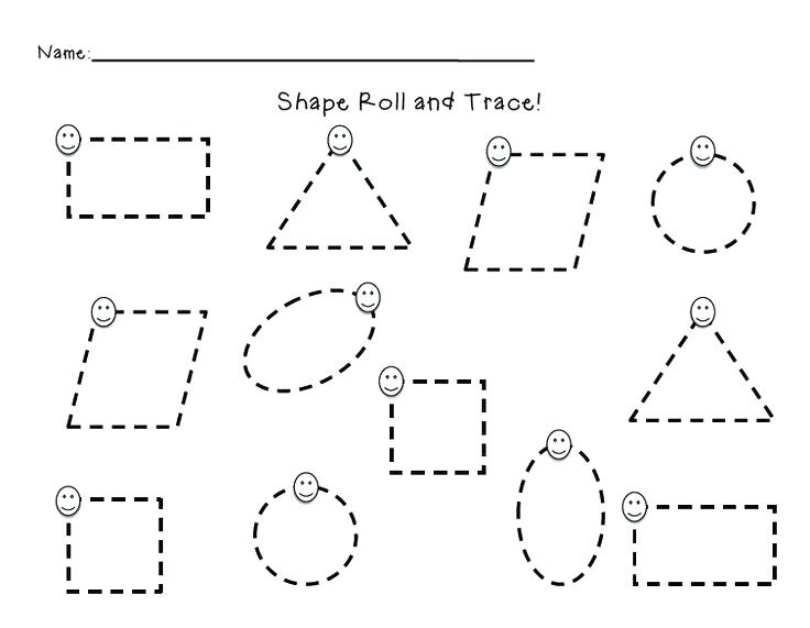 Best Images Of Basic Shape Tracing Worksheet Tracing Shapes Dotted