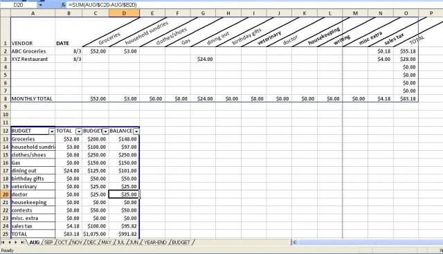 Budgeting Spreadsheet With A Downloadable Form!