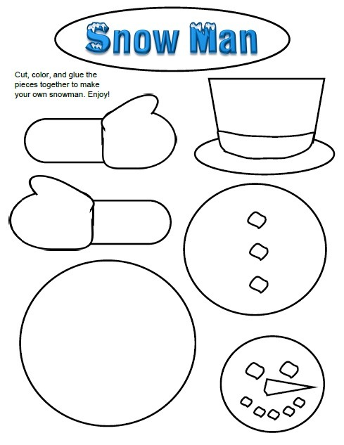 Build A Snowman Worksheet Worksheets For All