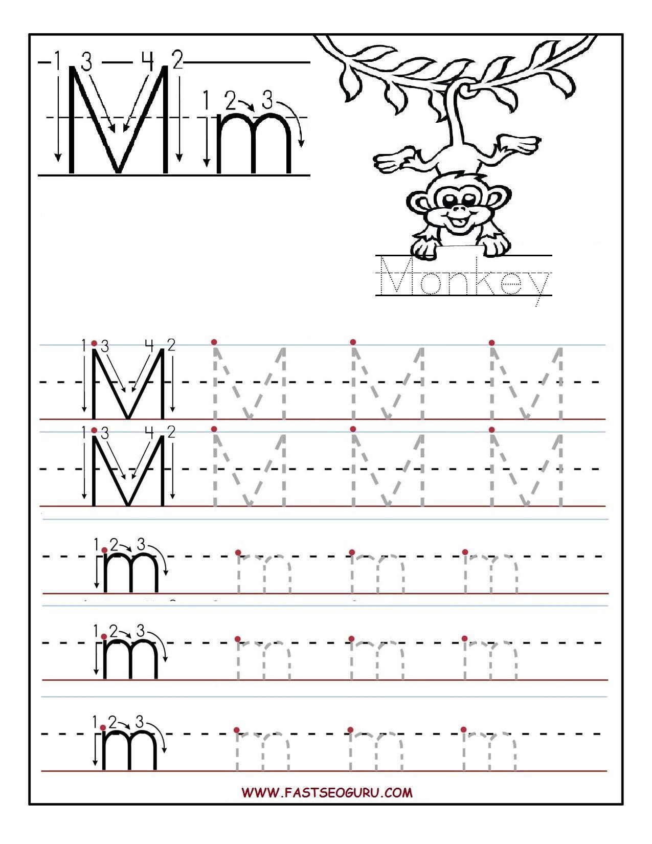 Trace Letter M