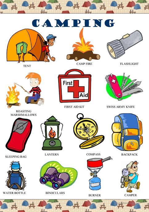 Camping Pictionary Worksheet