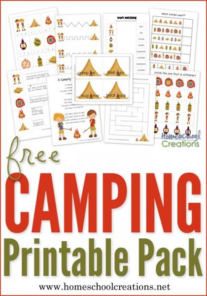 Camping Preschool Pack ~ Free Preschool Printables!