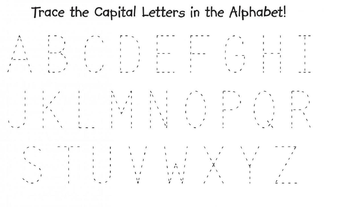 Free Printable Preschool Worksheets Tracing Capital Letters