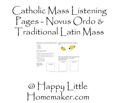Catholic Mass Worksheets