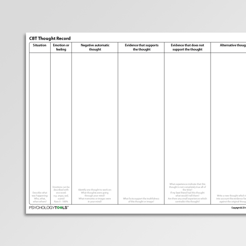 Anxiety Worksheets For Professionals And Self