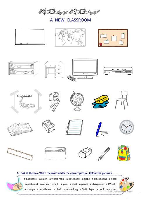 Classroom Things Worksheet