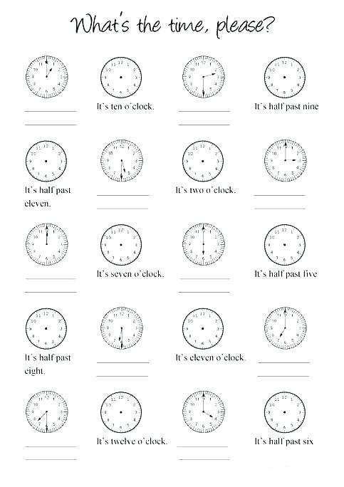 Clock Practice Worksheets 2nd Grade – Scottishotours Info