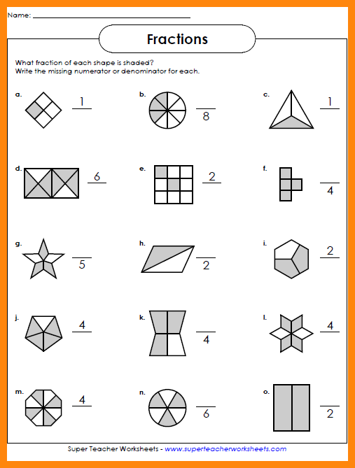 Collection Of Solutions Grade 4 Fractions Worksheet 2 Fractions