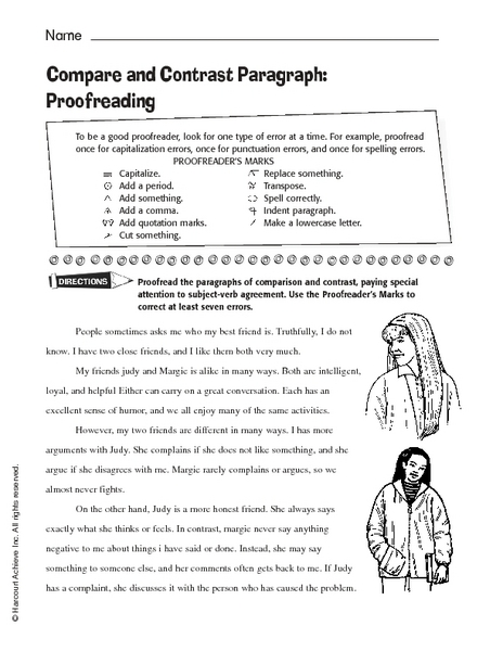 Compare And Contrast Worksheets 5th Grade Worksheets For All