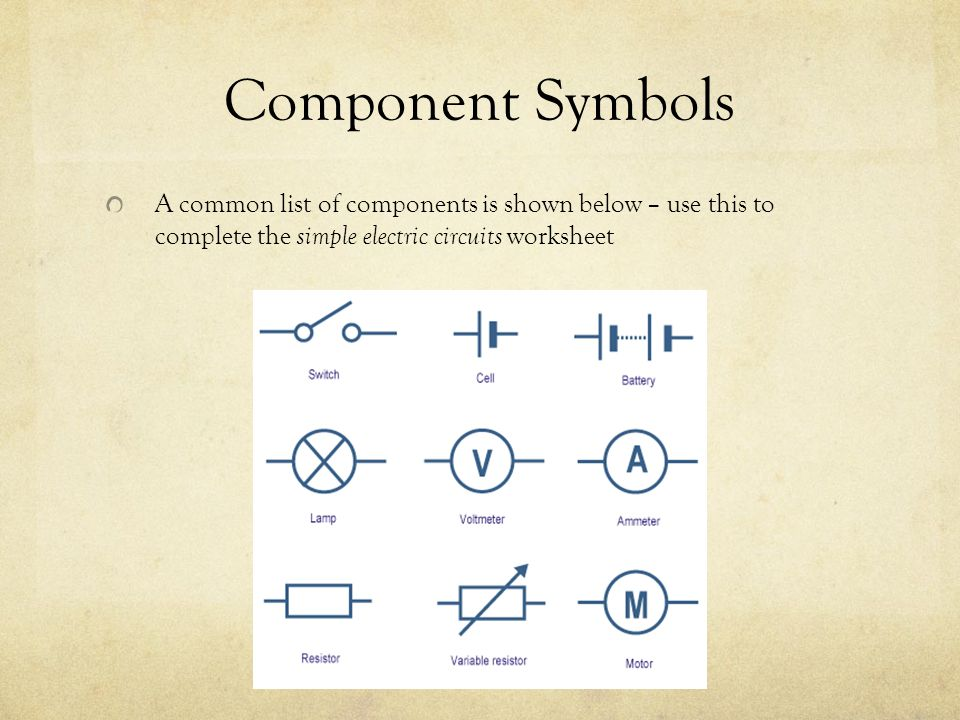 Simple Electrical Circuits Worksheets