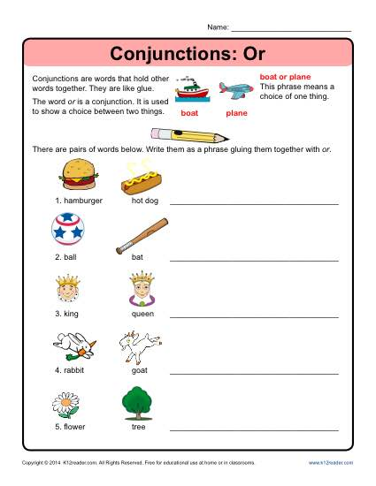 Conjunctions  Or