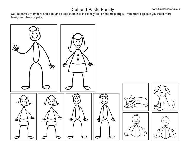 Family Events Kindergarten Worksheet