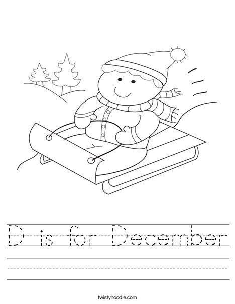 December Worksheets For Free!