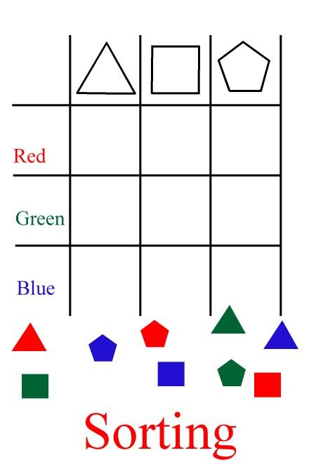 First Sort Just By Shape  Then Sort By Color And Shape  Recreate