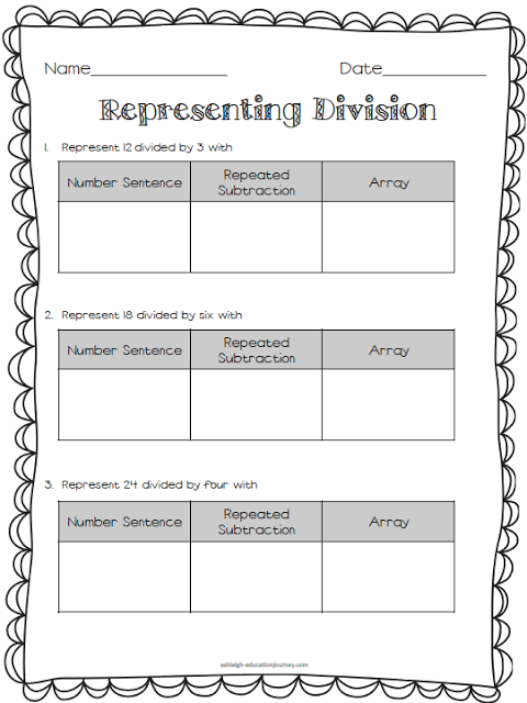 Free Multiplication & Division Worksheet