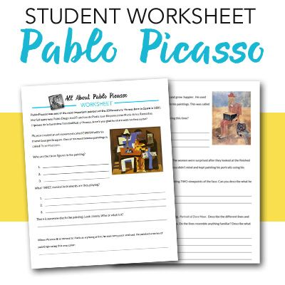 Pablo Picasso Student Worksheet