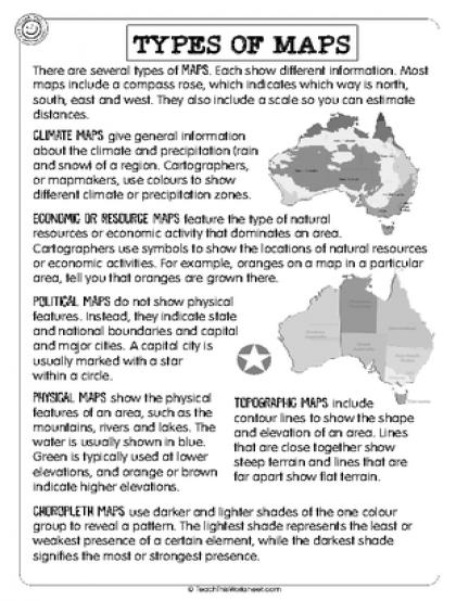 Image Result For Types Of Maps Worksheet