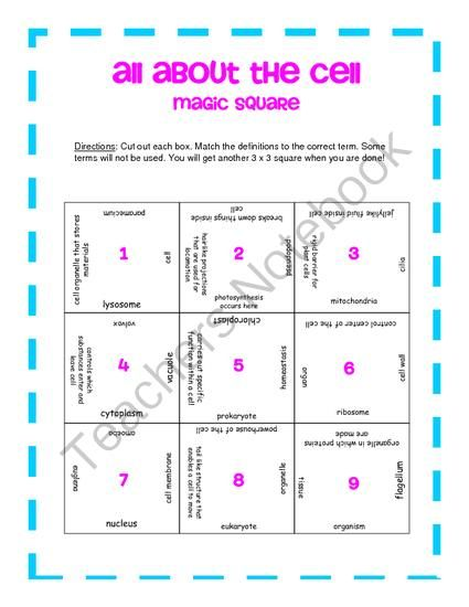 All About The Cell  Magic Square From Klarenays Shop On