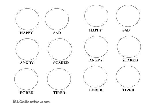 Emotion Faces Worksheet Worksheets For All