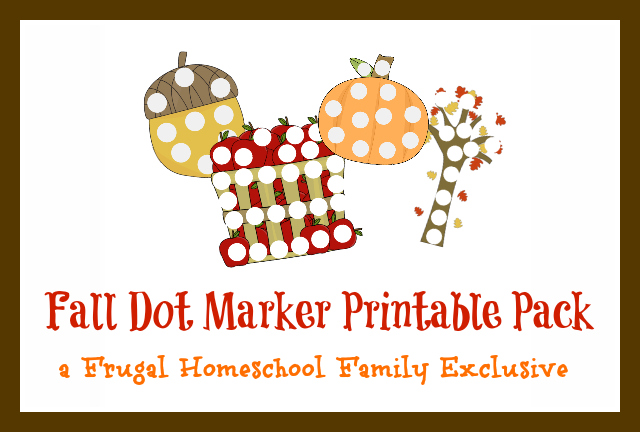 Fall Dot Marker Printables