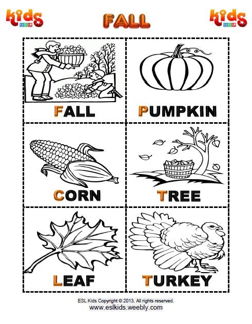 Fall Worksheets For Kindergarten Worksheets For All