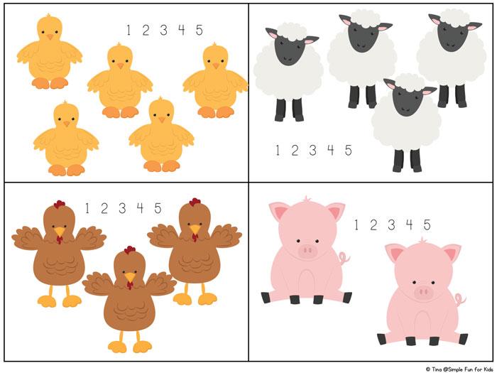 Farm Animal Counting 1