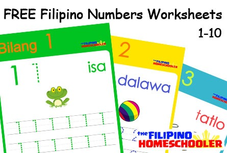 Free Filipino Numbers Worksheets From 1
