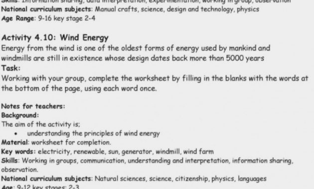 Forms Of Energy Worksheet Doc Matter And Answers Resume Quiz Amp