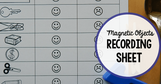 Free Magnet Worksheet For Kids