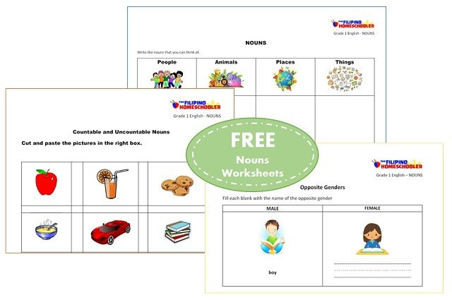 Free Nouns Worksheets For First Grade – The Filipino Homeschooler