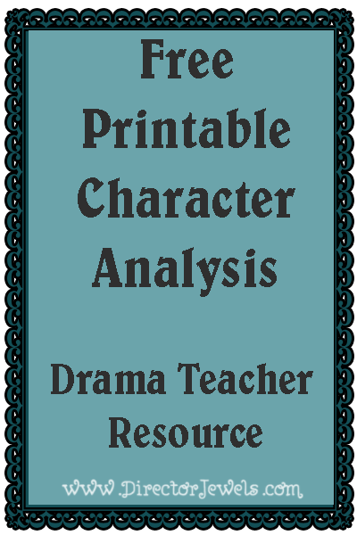 Director Jewels  Drama Teacher Resource  Free Printable Character