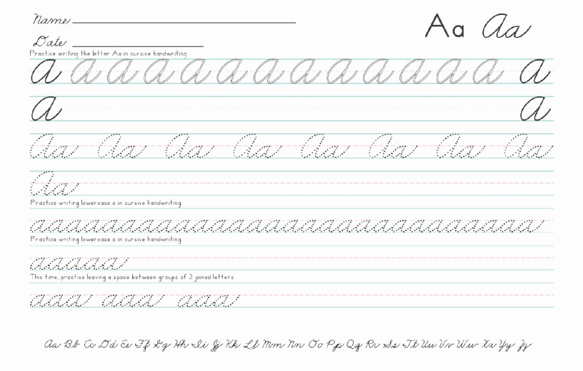 Free Printable Cursive Writing Paper Lovely Collection Of