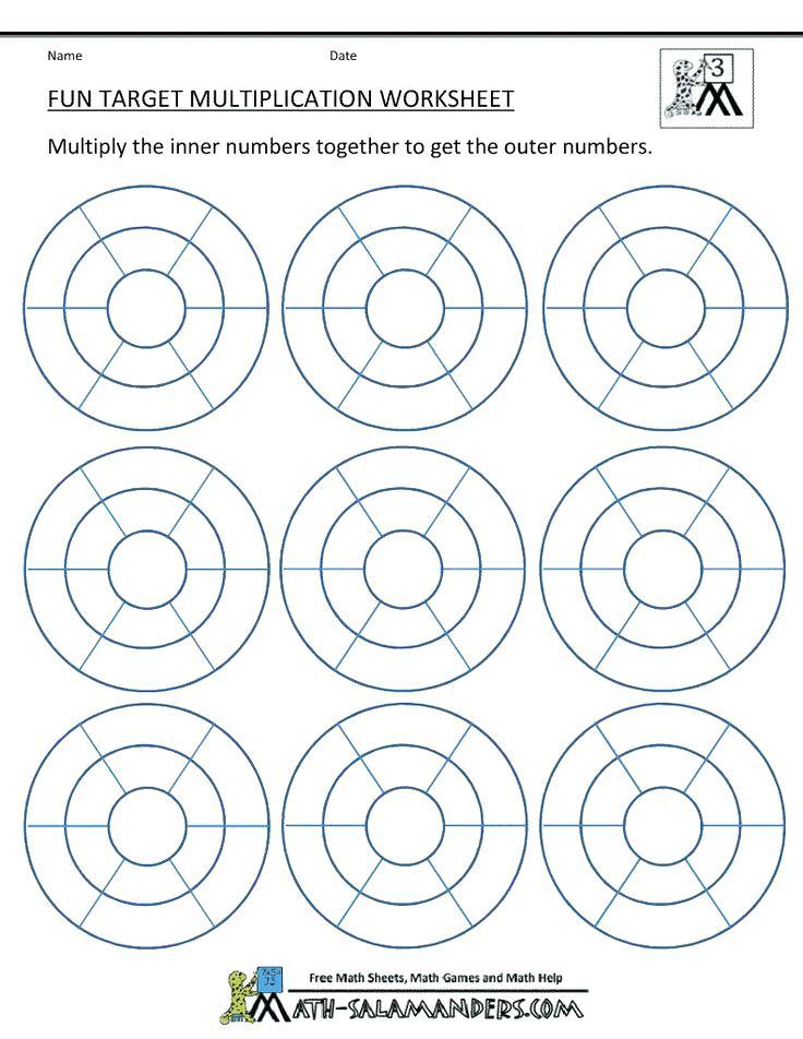 Free Printable Fun Multiplication Worksheets Grade 3 Create
