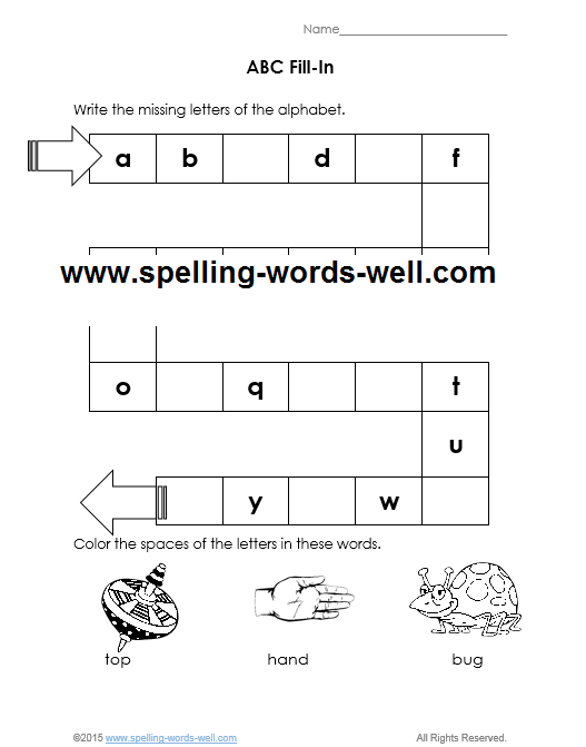Free Printable Kindergarten Worksheets With The Abcs