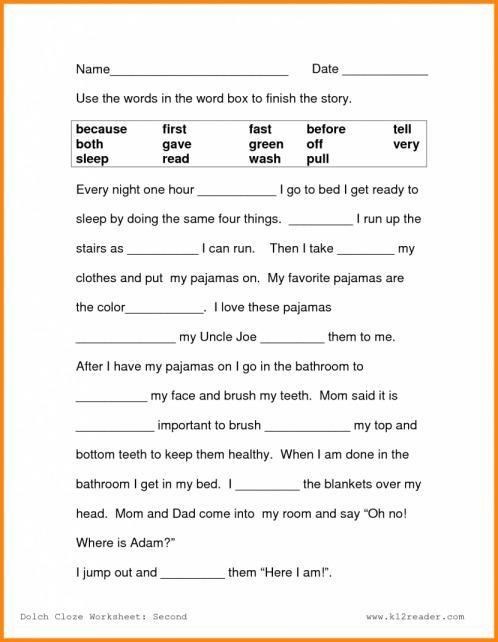 Free Printable Reading Comprehension Worksheets 2nd Grade  329063