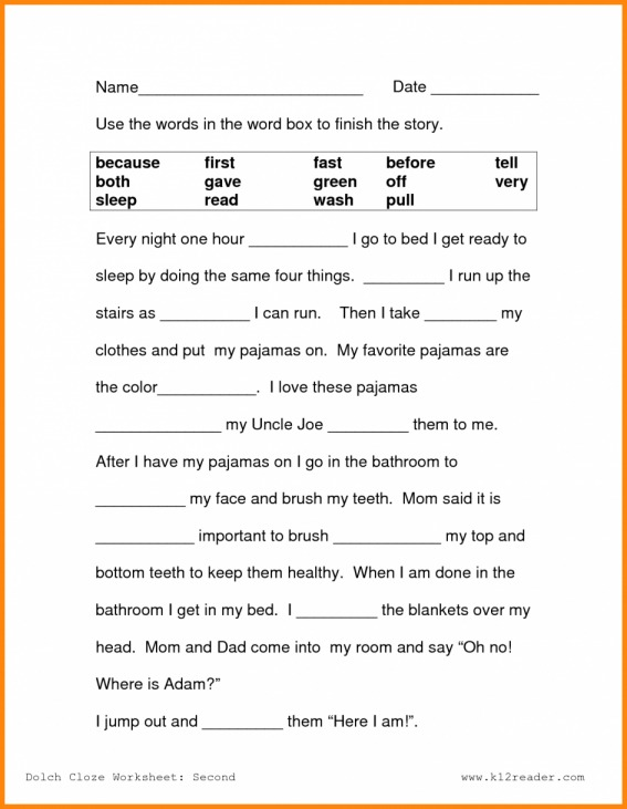 Best Free Printable Second Grade Reading Comprehension Worksheets