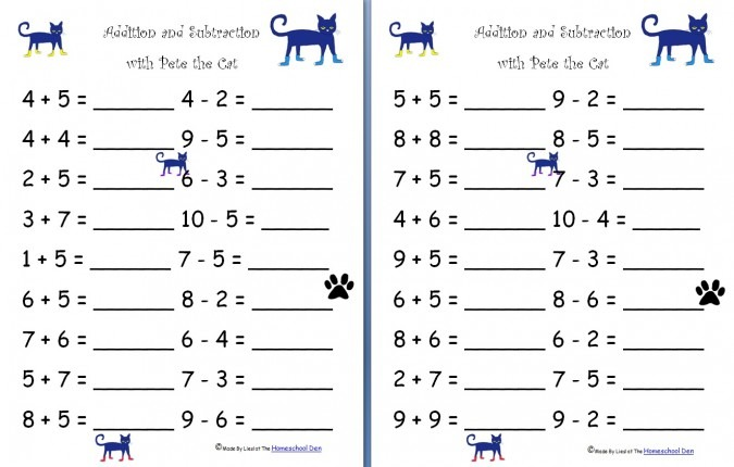 Printable Addition And Subtraction Worksheets  Addition
