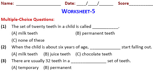 Class 4 Practice Worksheets On Our Food