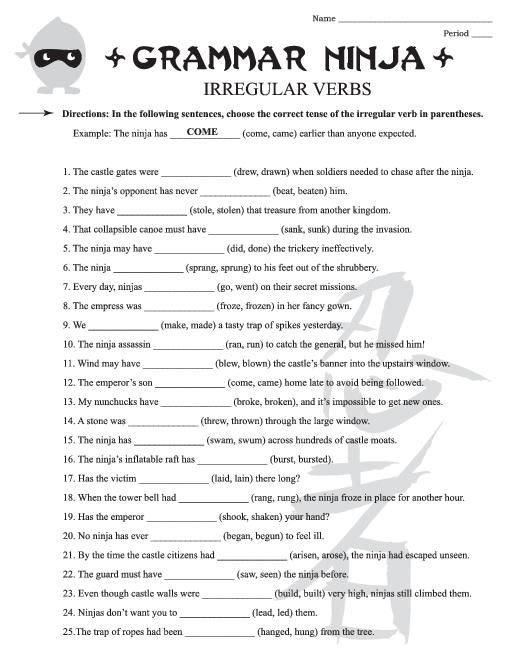 Grammar Worksheets 6th Grade Worksheets For All
