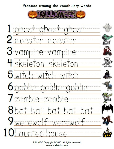 Halloween Tracing Worksheets Worksheets For All