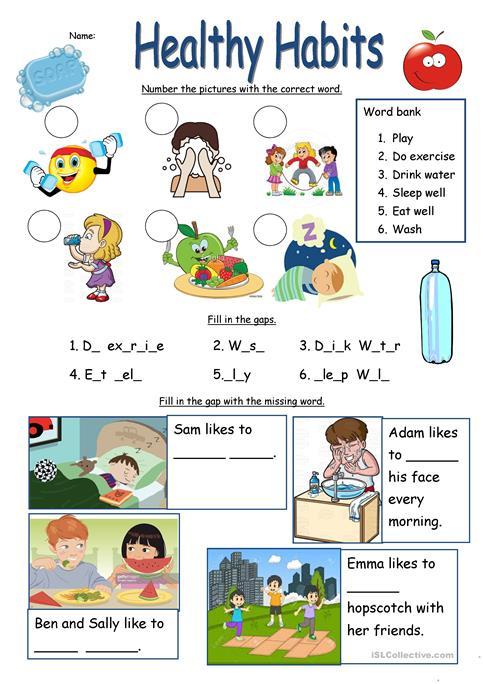 Healthy Habits Worksheet Worksheet